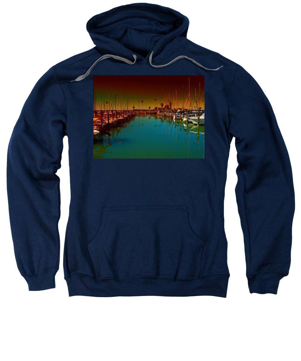 Florida Sweatshirt featuring the photograph Dunedin Marina by Bill Cannon