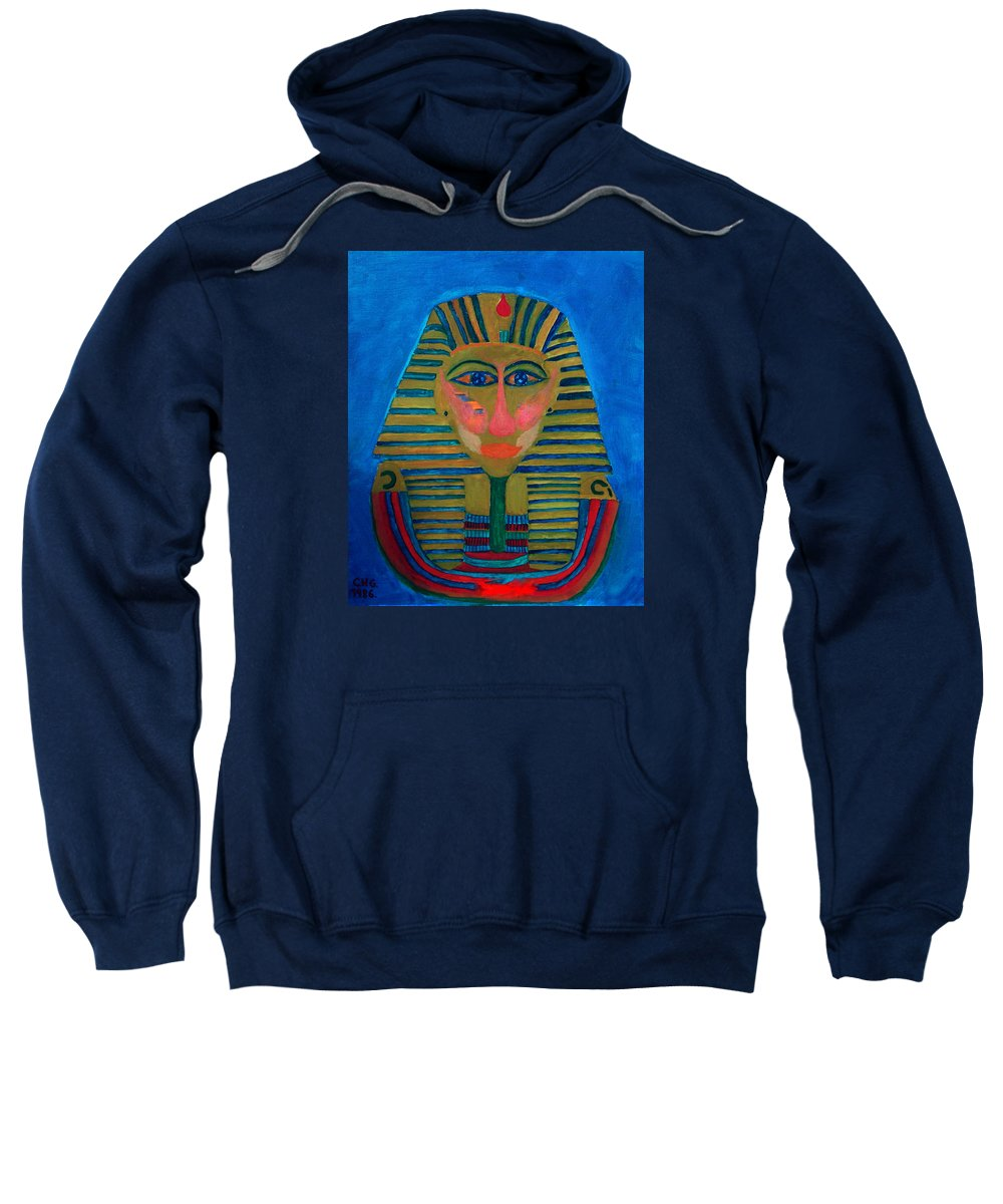 Colette Sweatshirt featuring the painting Egypt Ancient by Colette V Hera Guggenheim