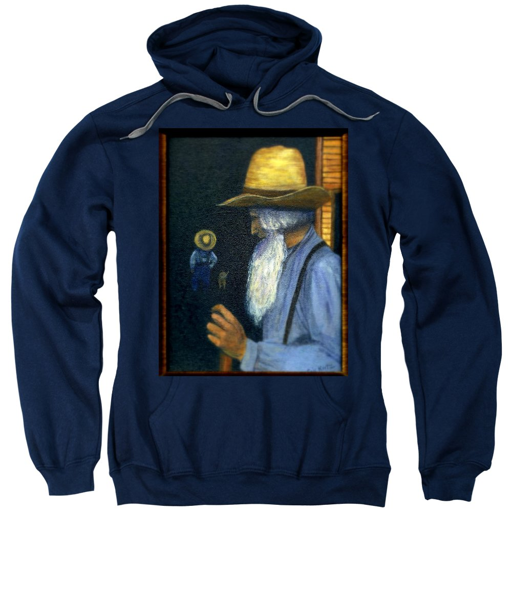 Men Sweatshirt featuring the painting Eli Remembers by Gail Kirtz