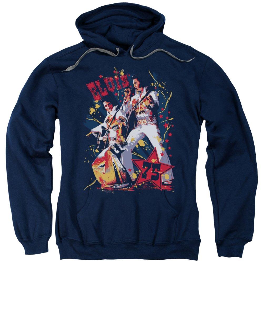 Elvis Sweatshirt featuring the digital art Elvis - Eagle Elvis by Brand A