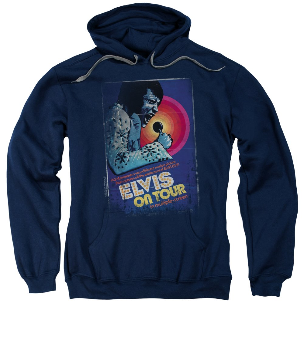 Elvis Sweatshirt featuring the digital art Elvis - On Tour Poster by Brand A