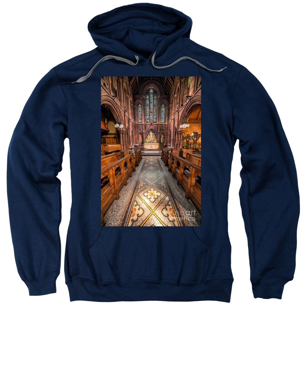 Anglican Sweatshirt featuring the photograph English Church 2 by Adrian Evans