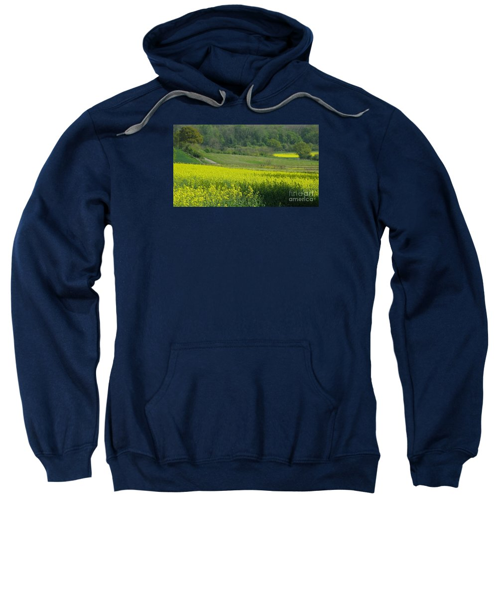 England Sweatshirt featuring the photograph English Countryside by Ann Horn