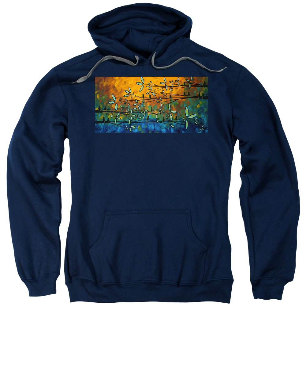 Art Sweatshirt featuring the painting Essence Of Life By Madart by Megan Duncanson