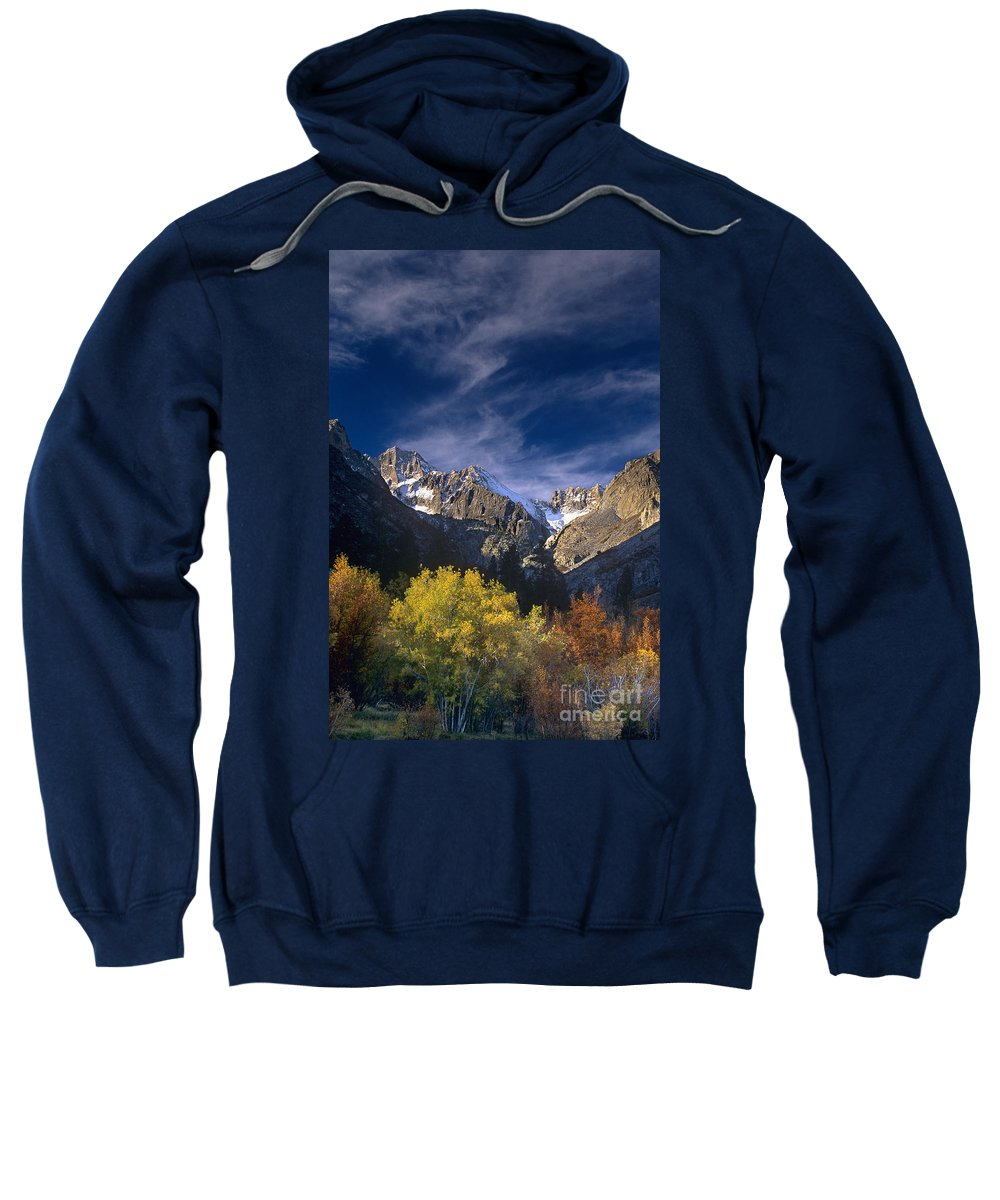 California Sweatshirt featuring the photograph Fall Color Below Middle Palisades Glacier Eastern Sierras California by Dave Welling