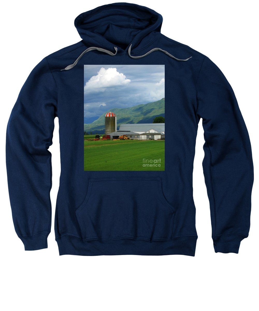 Farm Sweatshirt featuring the photograph Farm In The Valley by Ann Horn