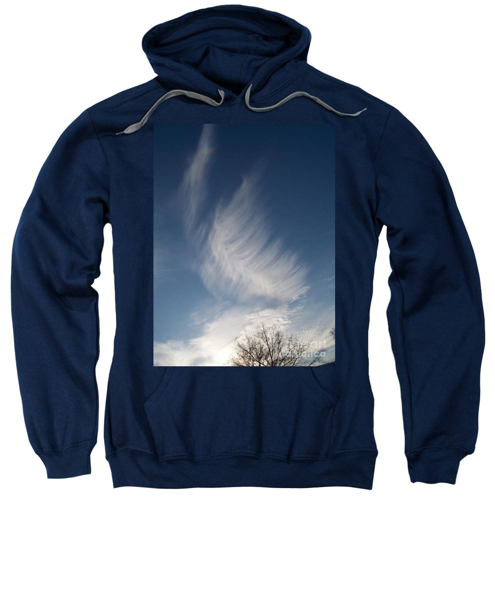 Angel Sweatshirt featuring the photograph Feather Cloud By Diane Schiabor by Eric Schiabor