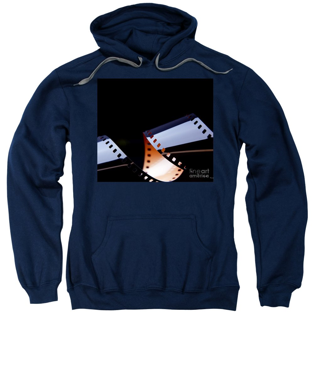 35mm Sweatshirt featuring the photograph Film Strip Abstract by Tim Hester