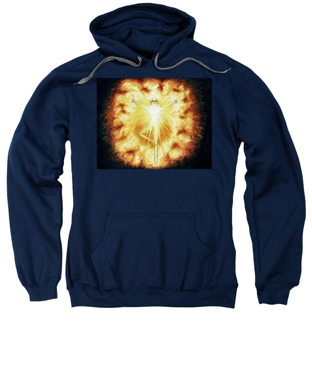Fire Sweatshirt featuring the painting Fire by Joy Landa
