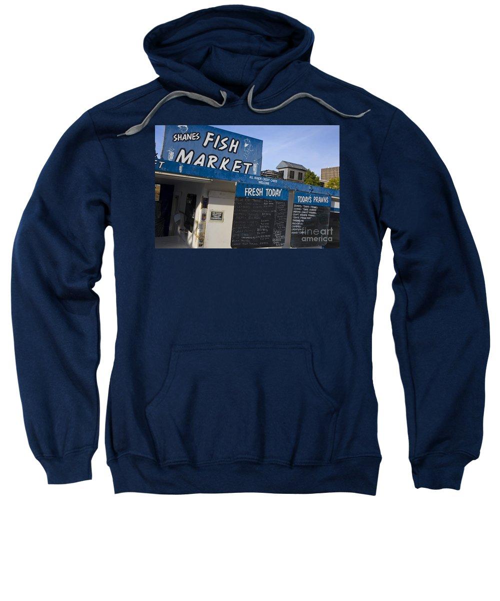 Travel Sweatshirt featuring the photograph Fish Market In Hobart by Jason O Watson