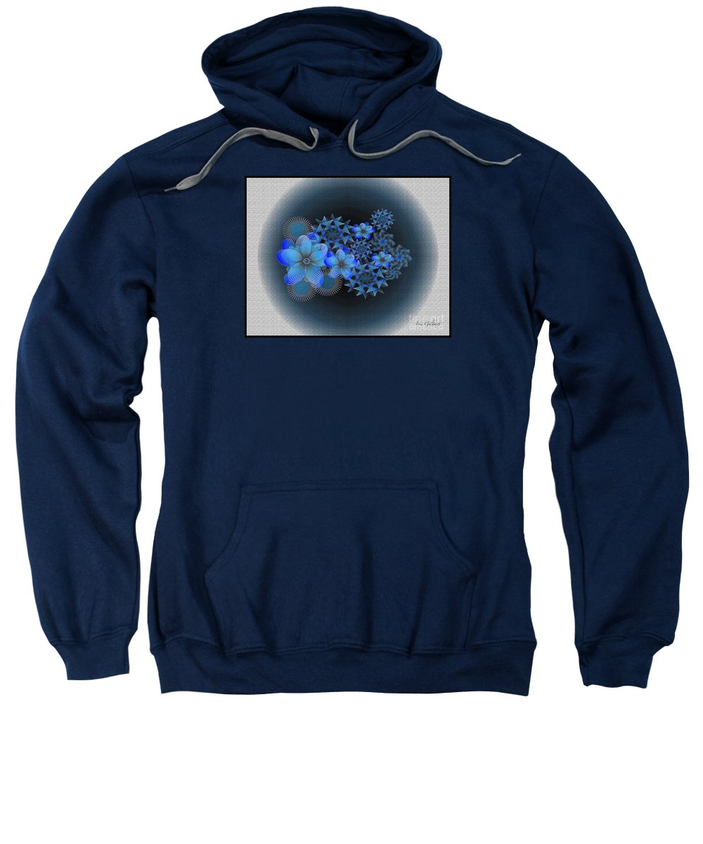 Flowers Sweatshirt featuring the digital art Floral Wonder 12 by Iris Gelbart