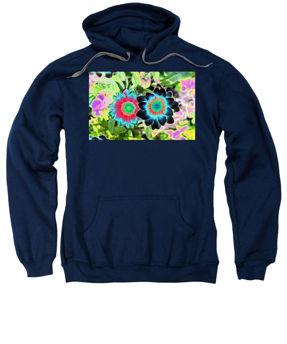 Flower Sweatshirt featuring the photograph Flower Power 1449 by Pamela Critchlow