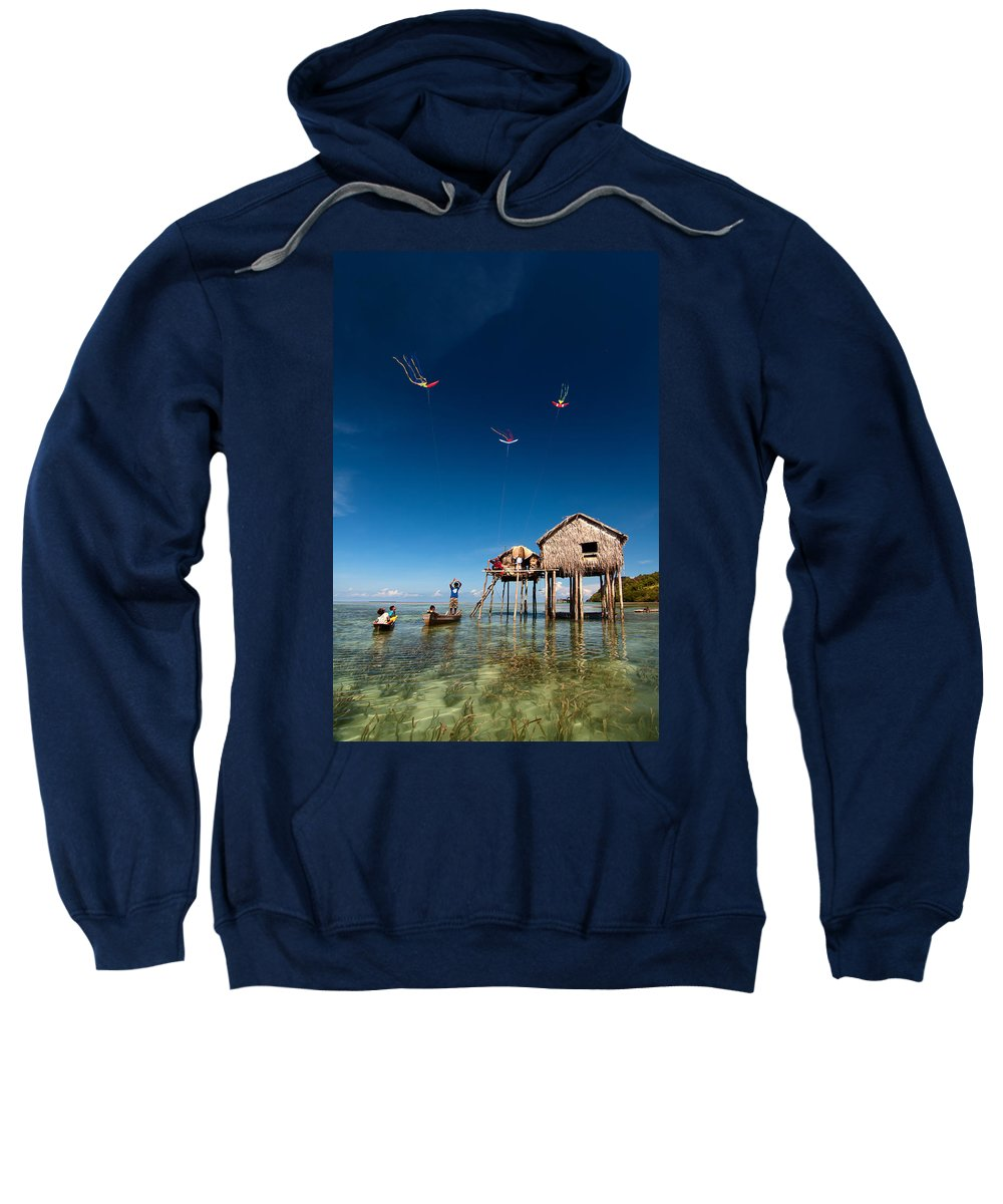 Flying Sweatshirt featuring the photograph Flying Kites by Kim Pin Tan