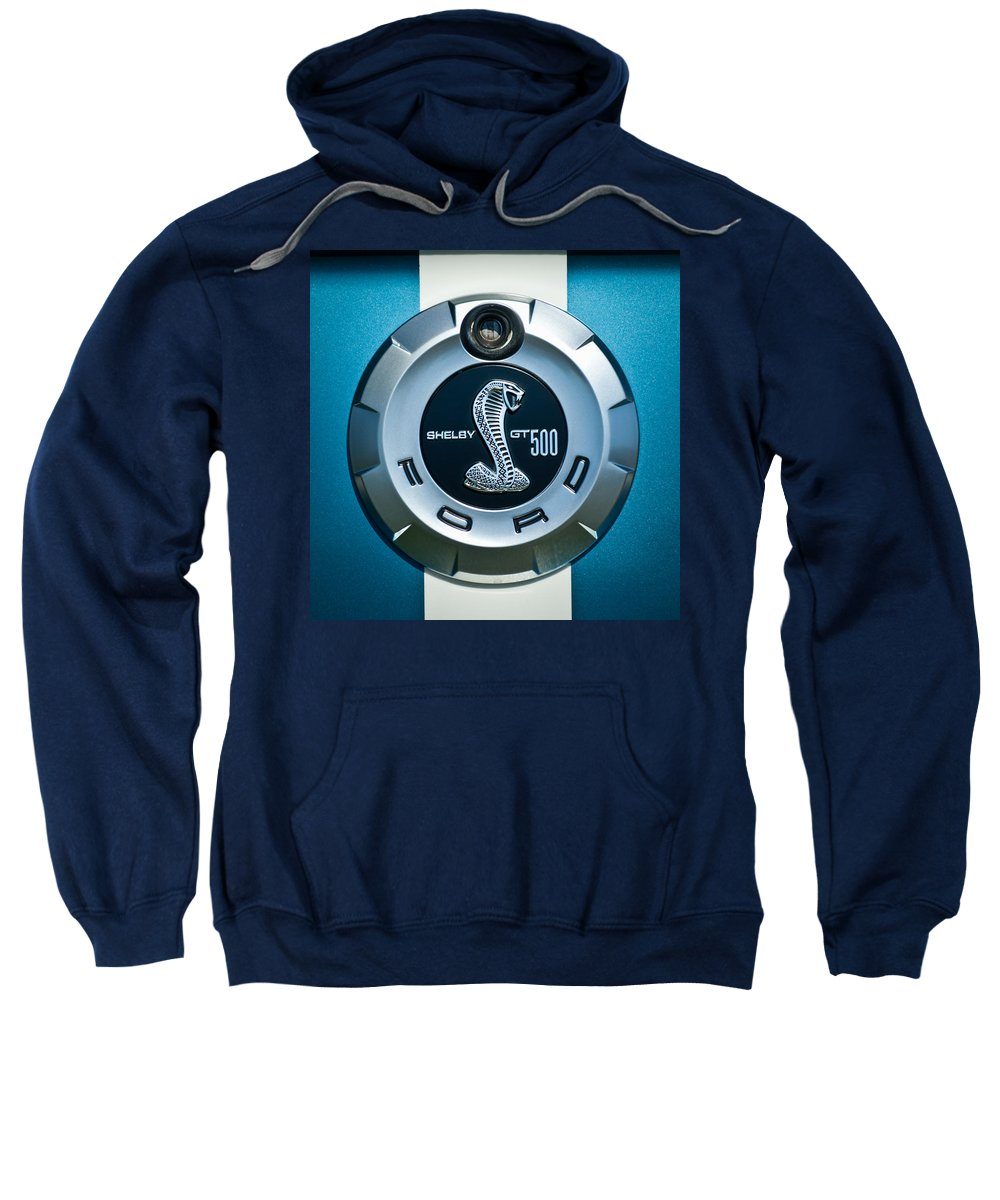 Ford Shelby Gt 500 Cobra Sweatshirt featuring the photograph Ford Shelby Gt 500 Cobra Emblem by Jill Reger