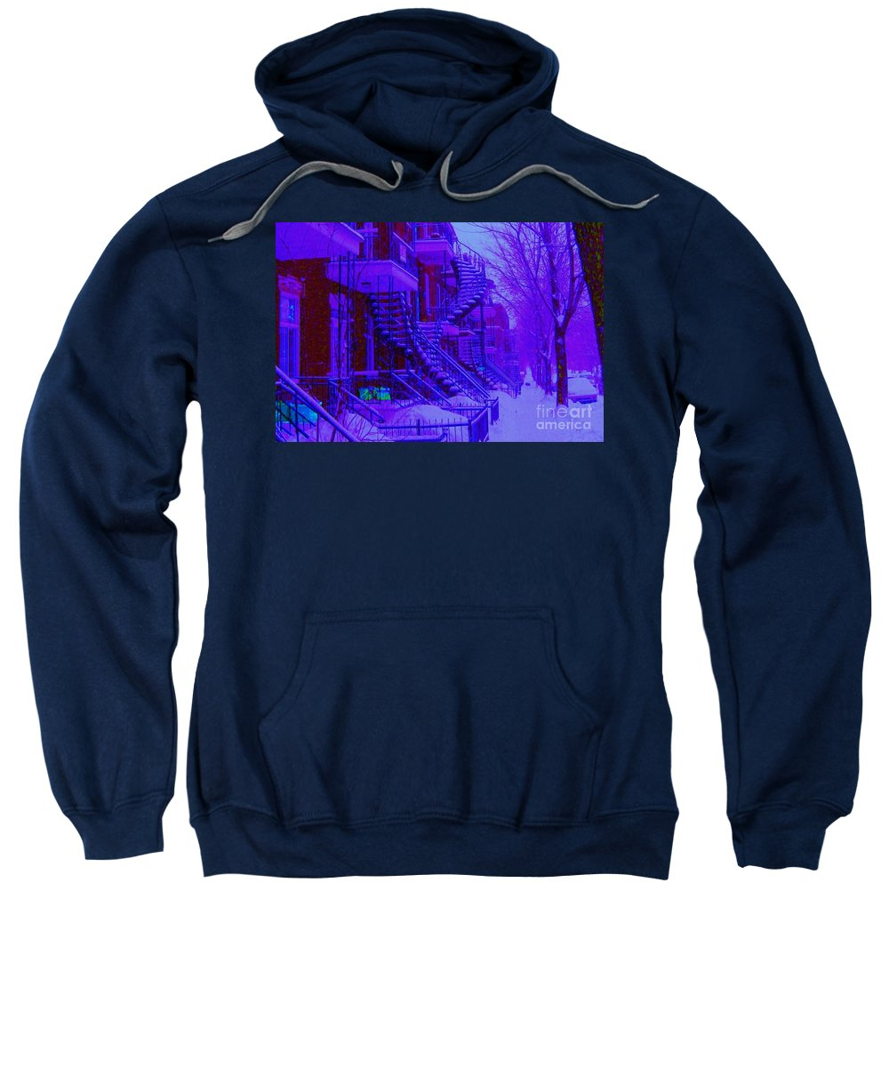 Montreal Sweatshirt featuring the photograph Frost On Winding Staircases by Carole Spandau