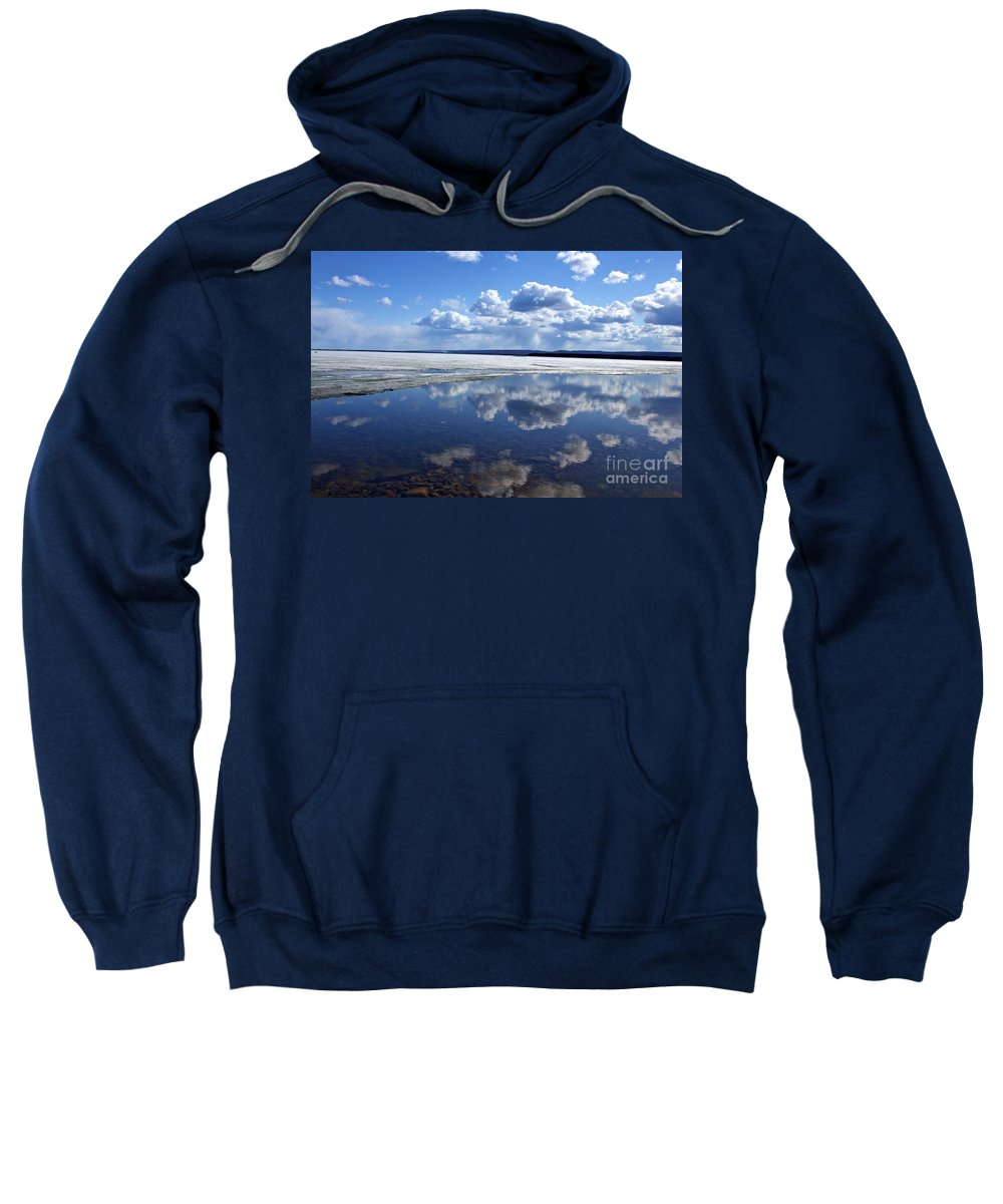 Ice Sweatshirt featuring the photograph Frozen Lake by Alanna DPhoto