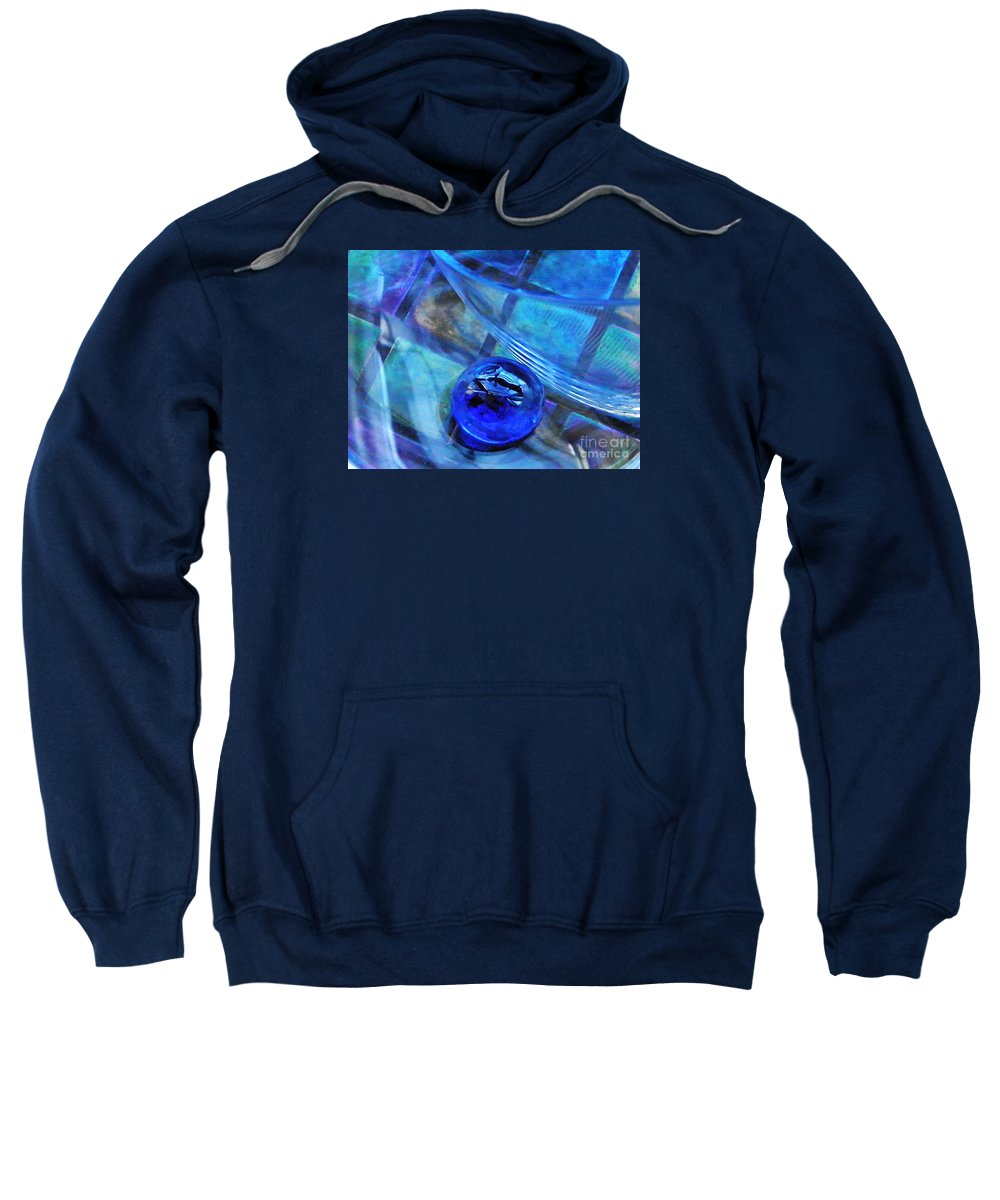 Abstract Sweatshirt featuring the photograph Glass Abstract 238 by Sarah Loft