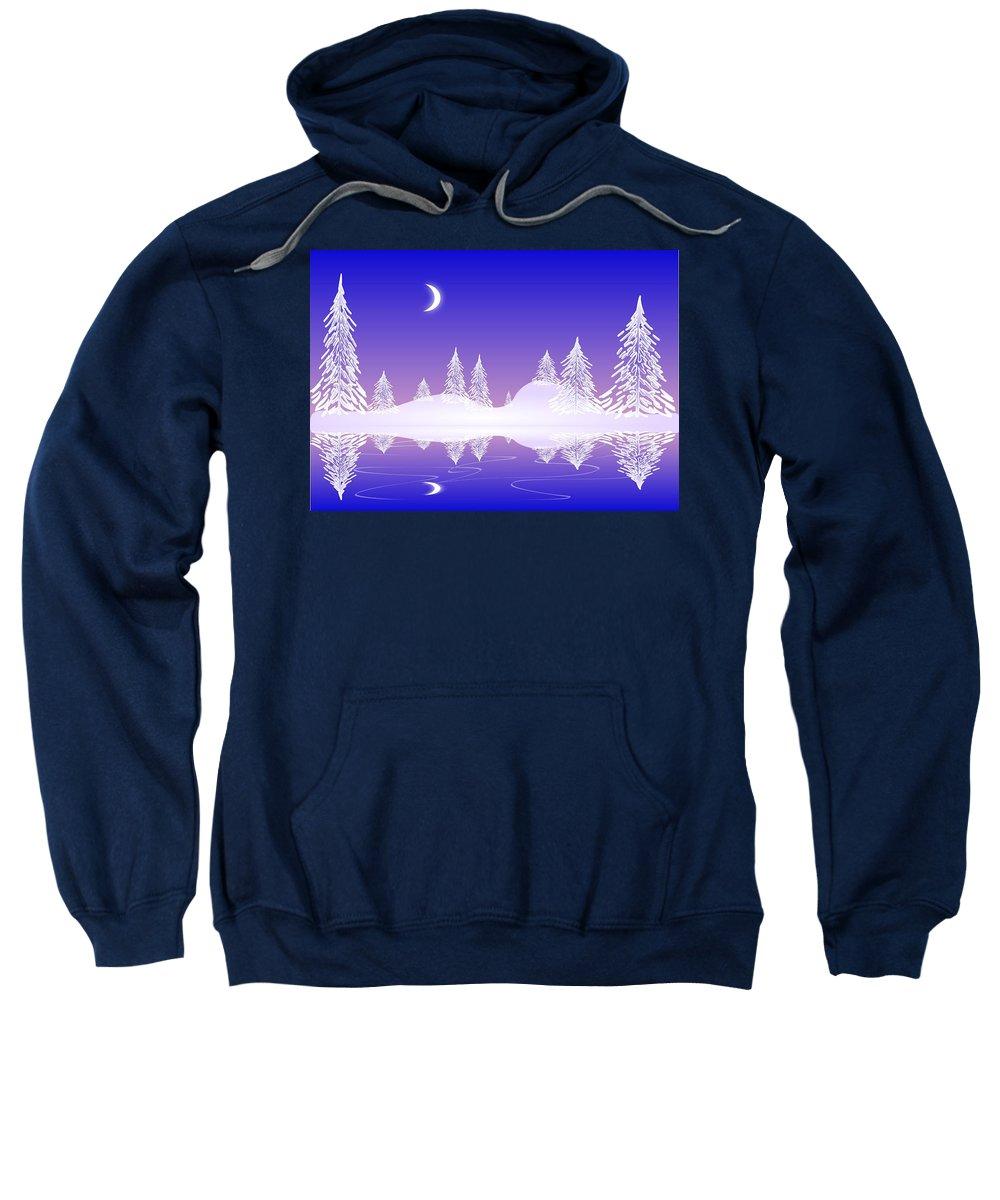 Cool Sweatshirt featuring the digital art Glass Winter by Anastasiya Malakhova