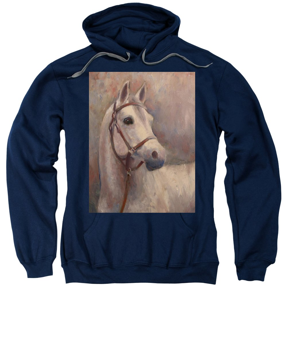 Painting Sweatshirt featuring the painting Gorgeous Girl by Sarah Parks