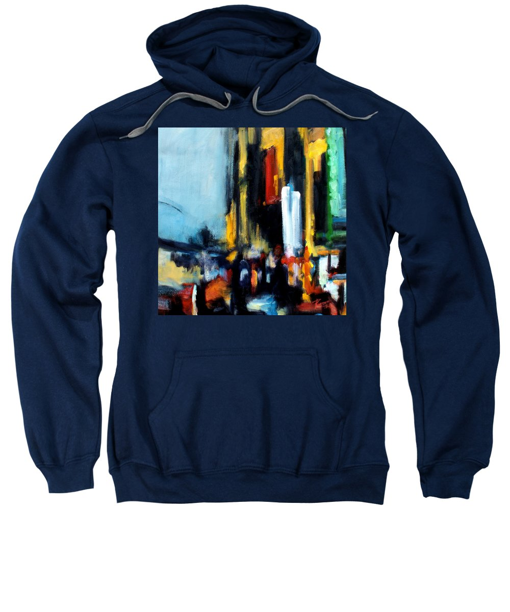 New York Sweatshirt featuring the painting Gotham 3 by Robert Reeves