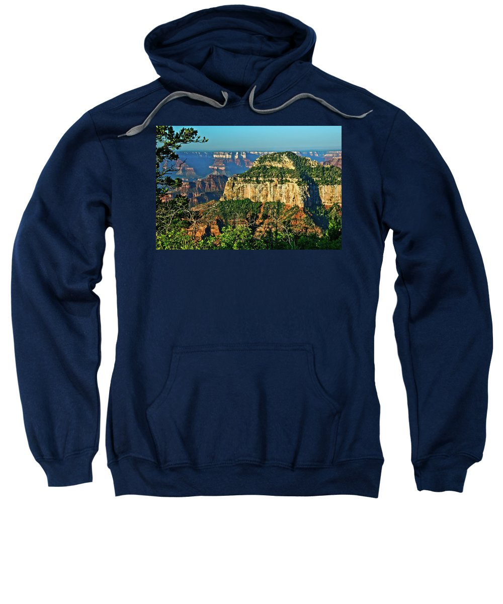 Abyss Sweatshirt featuring the photograph Grand Canyon Peak Angel Point by Bob and Nadine Johnston