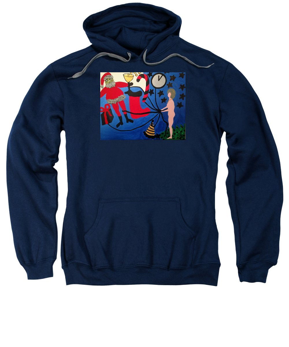 Staes Sweatshirt featuring the painting Holidays by Erika Chamberlin