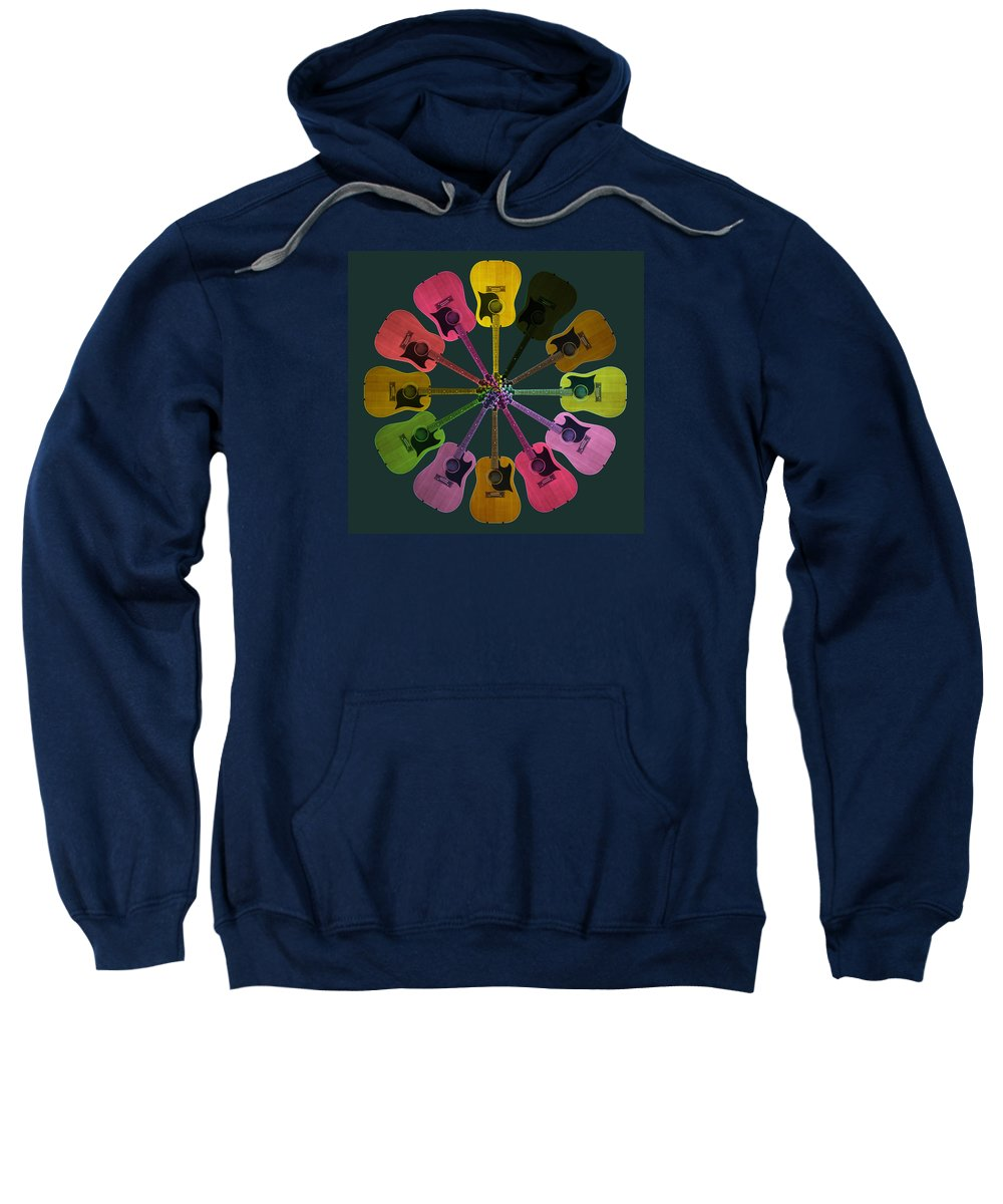 Guitar Sweatshirt featuring the photograph Guitar O Clock by C H Apperson