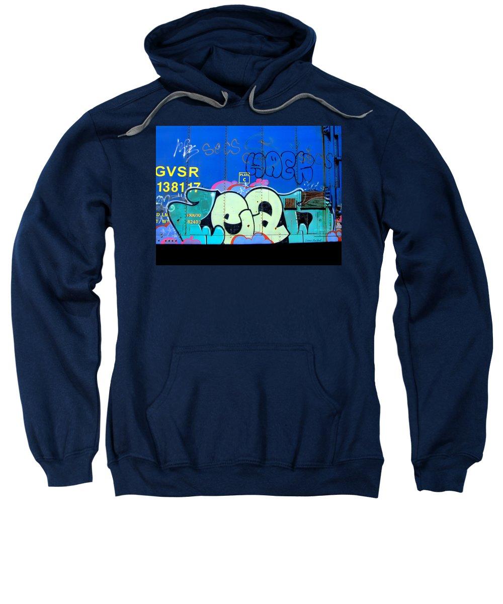Graffiti Sweatshirt featuring the photograph Hack by Donna Blackhall