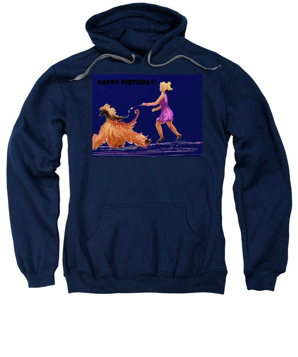 Ipad Finger Painting Sweatshirt featuring the painting Happiness by Terry Chacon