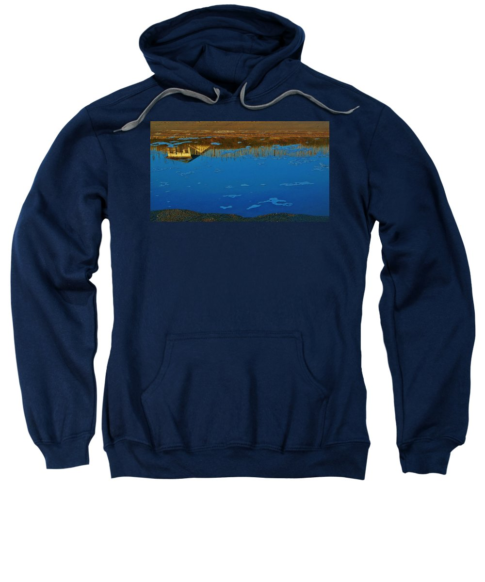 Mark Lemmon Cape Hatteras Nc The Outer Banks Photographer Subjects From Sunrise Sweatshirt featuring the photograph Hatteras Reflection 6 10/31 by Mark Lemmon