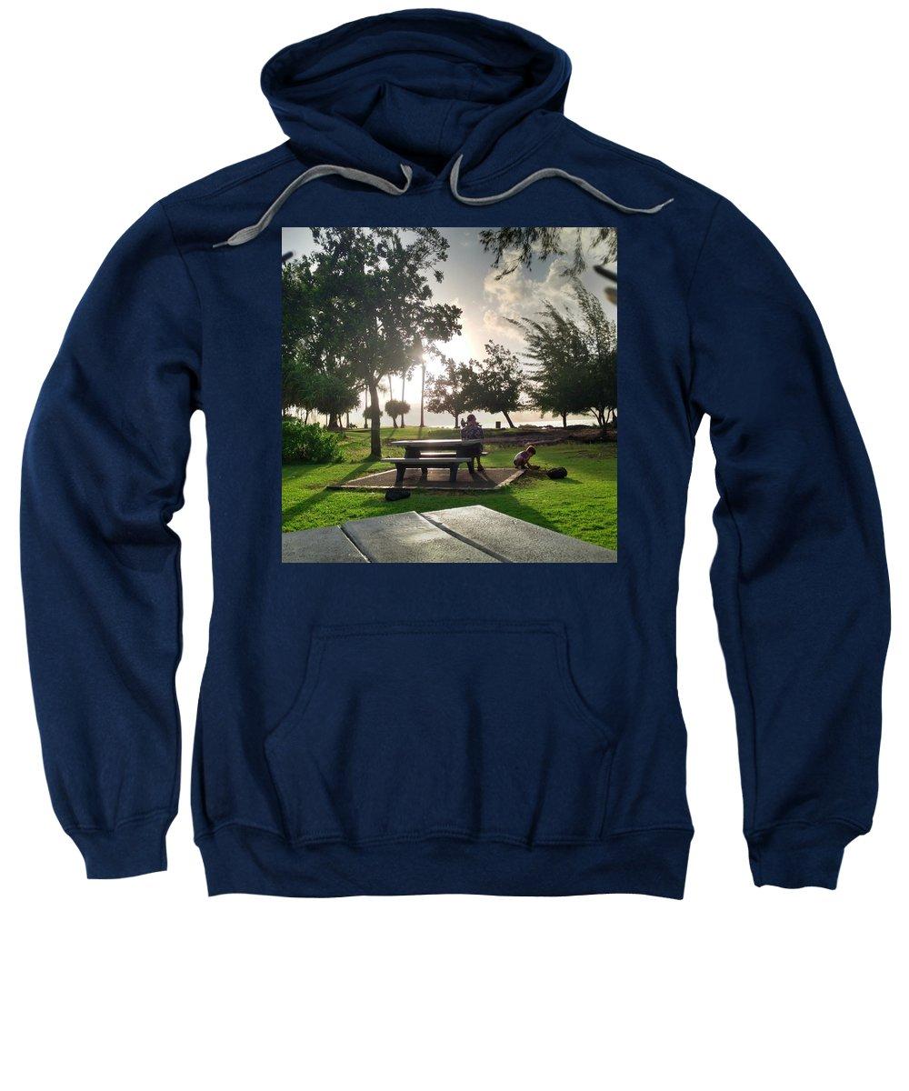 Hawaiian Landscape Sweatshirt featuring the digital art Hawaiian Landscape 9 by D Preble
