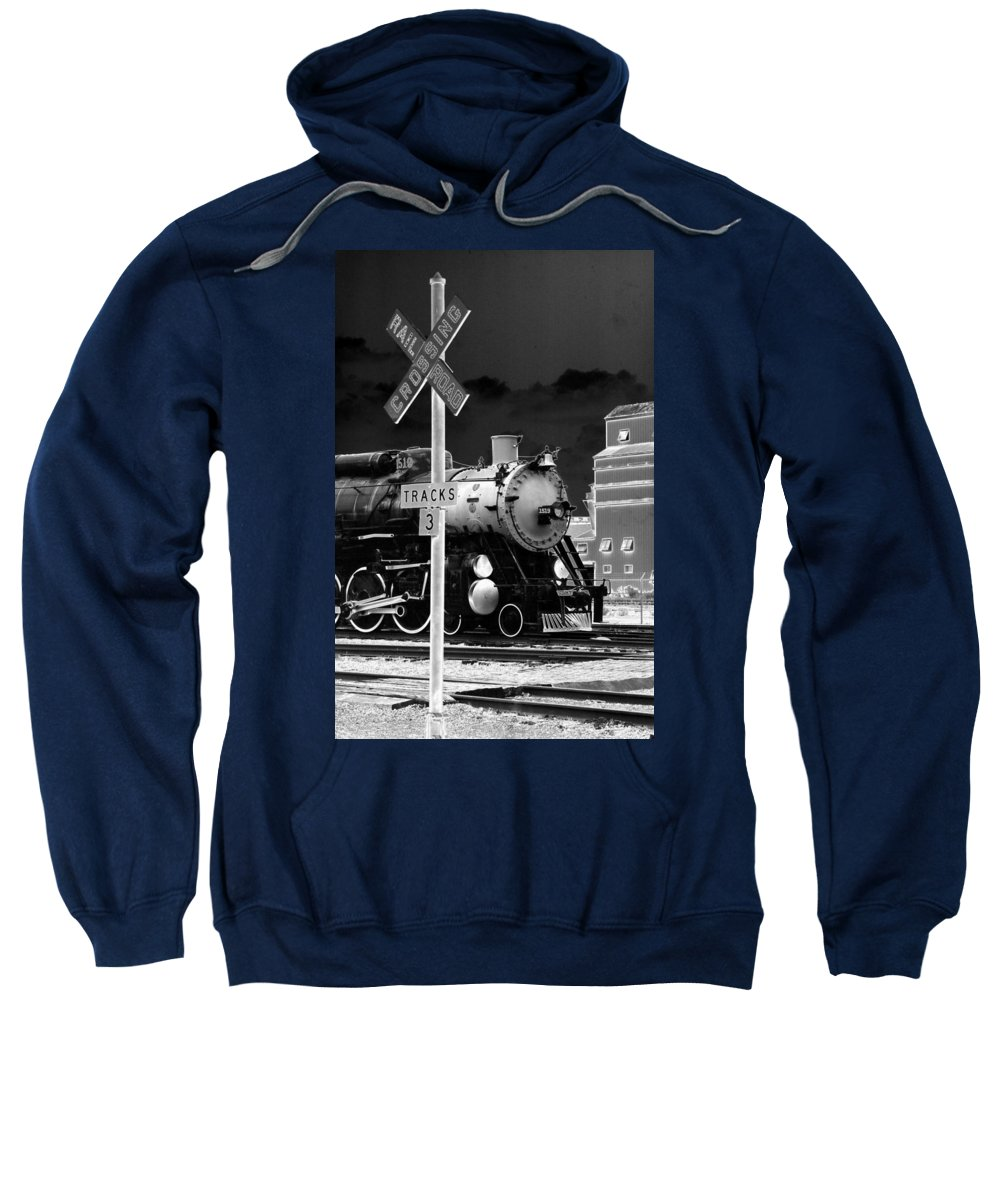 Train Sweatshirt featuring the photograph Heavy Metal 1519 - Photopower 1474 by Pamela Critchlow