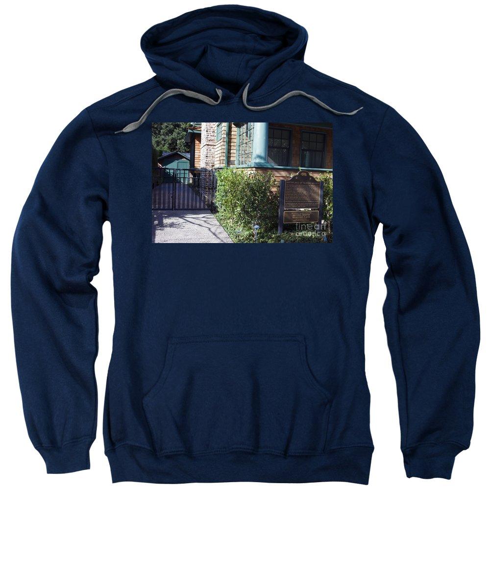 Sweatshirt featuring the photograph Hewlett Packard Garage Palo Alto California by Jason O Watson