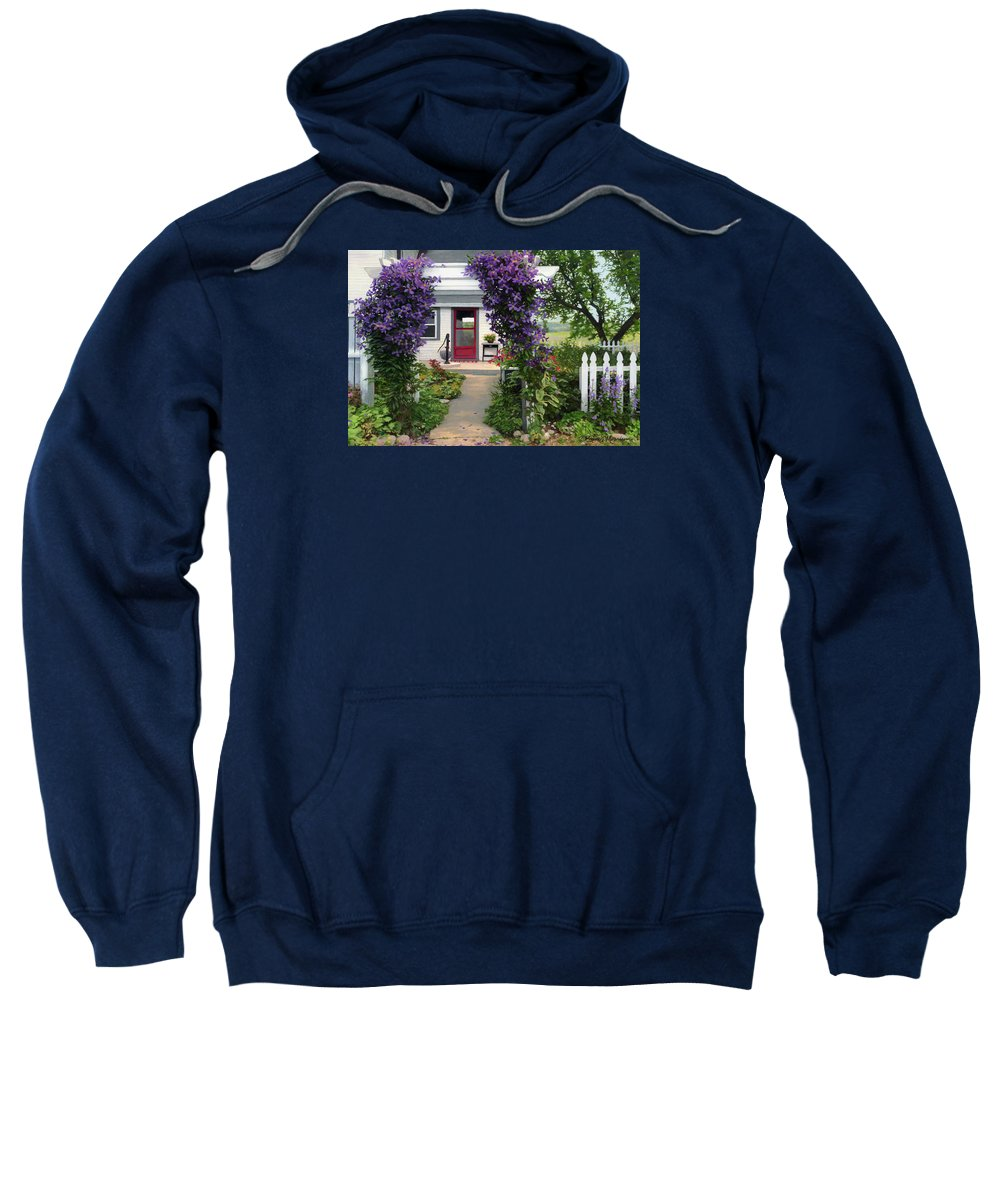 Color Pencil Sweatshirt featuring the drawing Home by Bruce Morrison