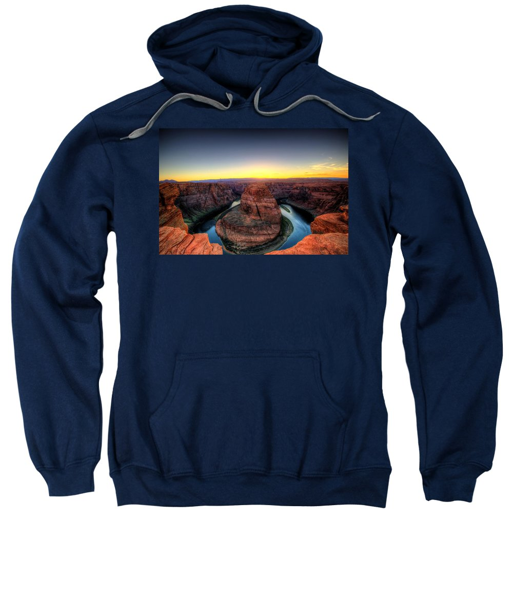 Horseshoe Bend Sweatshirt featuring the photograph Horseshoe Bend by Dave Files
