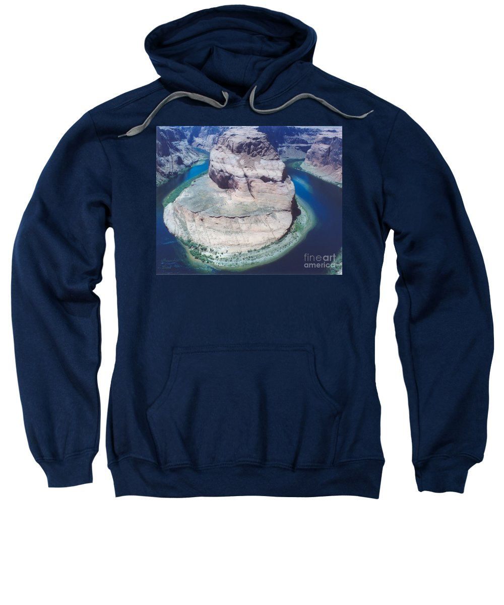 Horseshoe Bend Sweatshirt featuring the photograph Horseshoe Bend by Heather Kirk