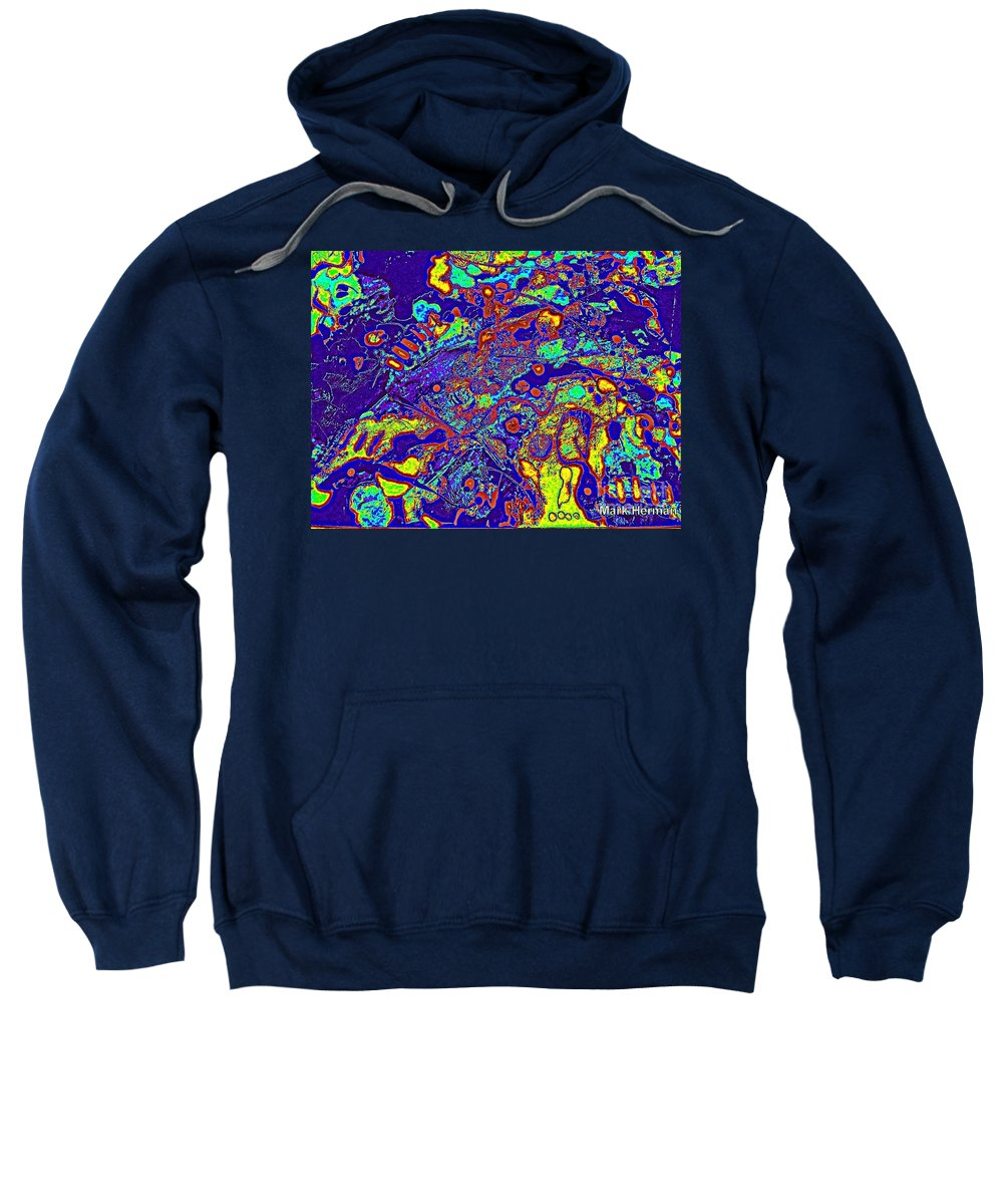 Brightly Colored Sweatshirt featuring the painting Hot Hot Heat by Mark Herman
