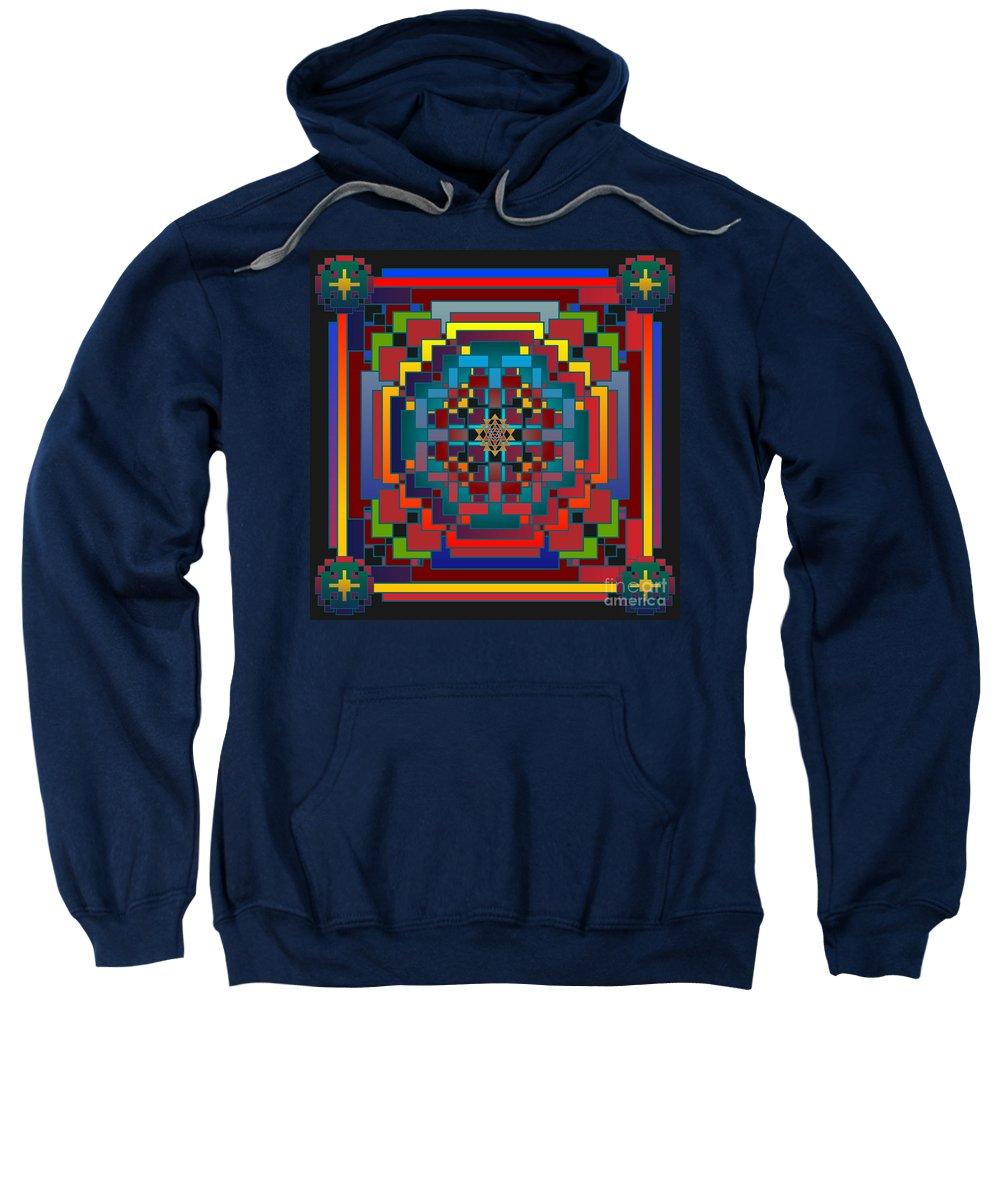Digital Sweatshirt featuring the digital art Imbroglio 2012 by Kathryn Strick