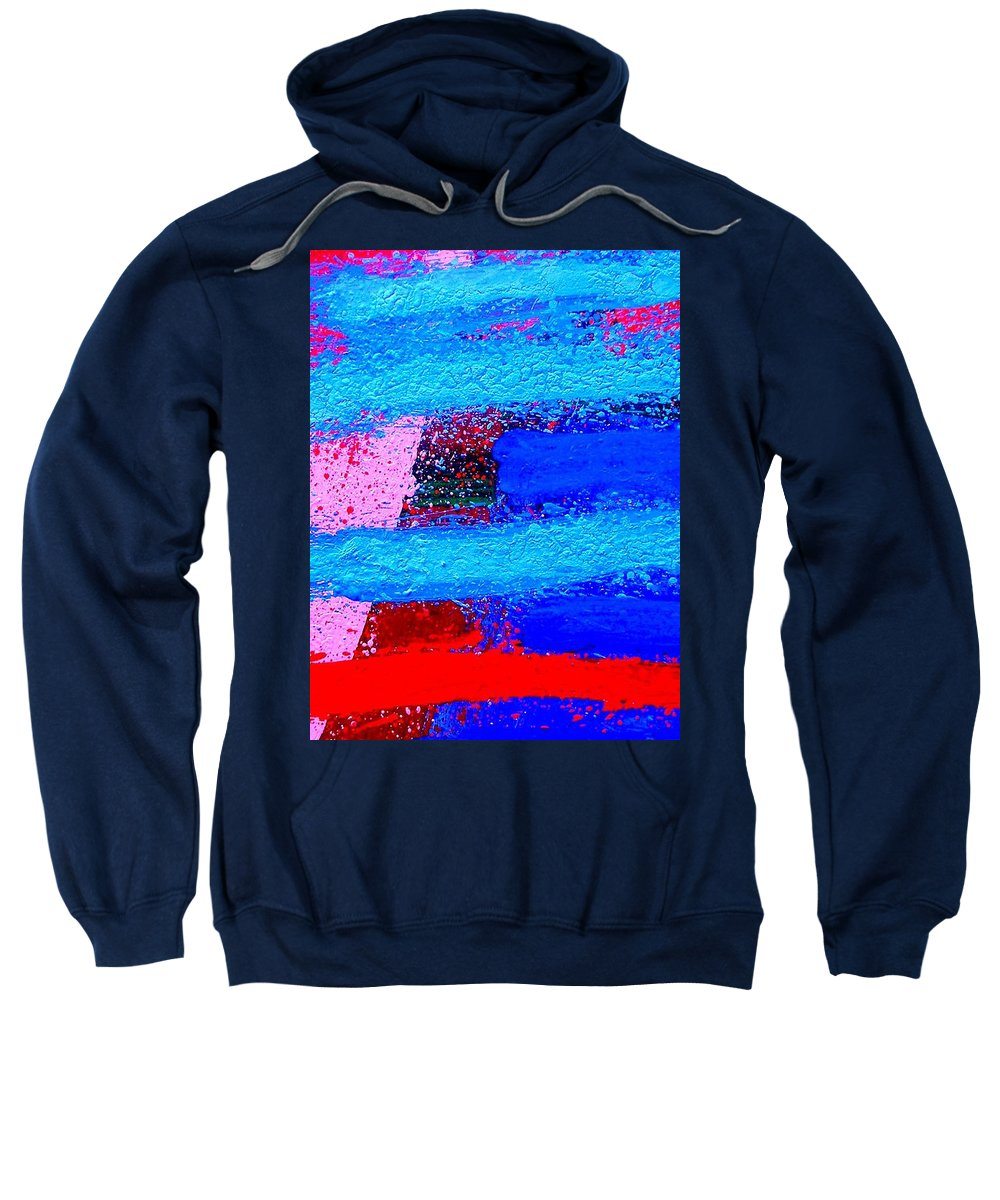 Abstract Sweatshirt featuring the painting Imma  Iv by John Nolan