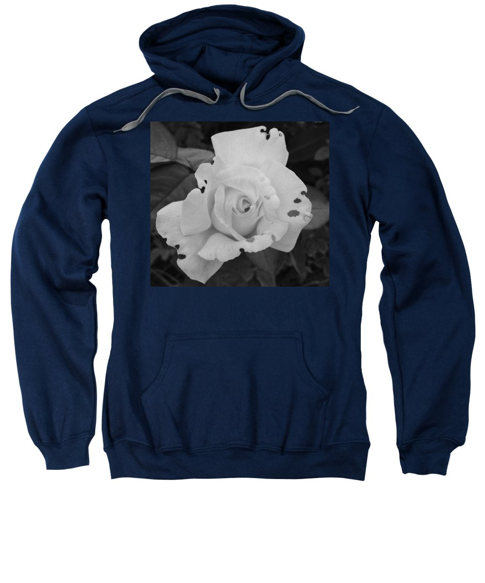 Black And White Sweatshirt featuring the photograph Imperfection by Terri Louise