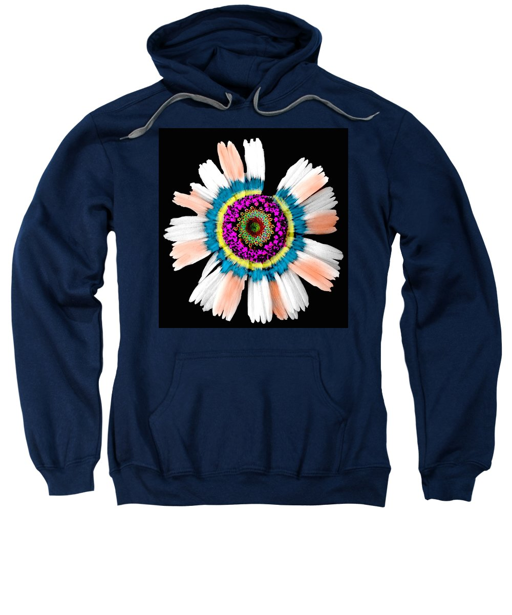 Flower Sweatshirt featuring the photograph In My Own Little World by Debbie Nobile