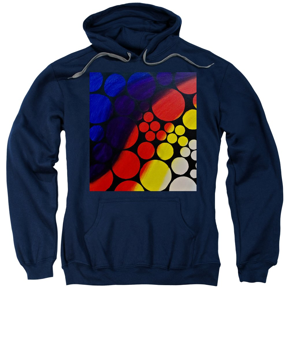 Painting Sweatshirt featuring the painting Inflating Bubbles by Joel Loftus