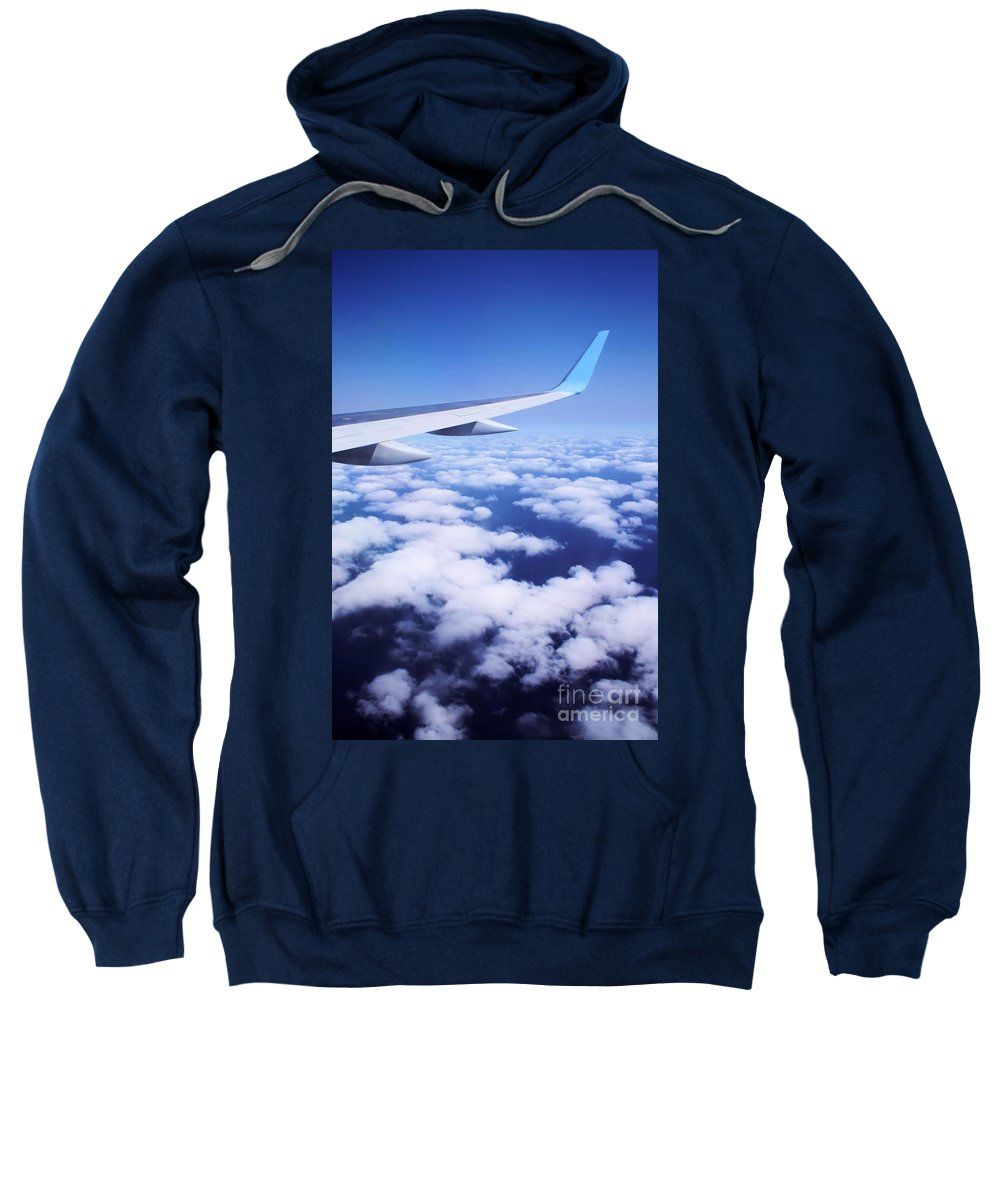 Landscape Sweatshirt featuring the photograph Inflight Entertainment by Brian Raggatt