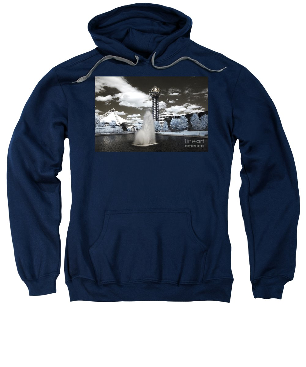 Infrared Sweatshirt featuring the photograph Infrared City Park by Paul W Faust - Impressions of Light