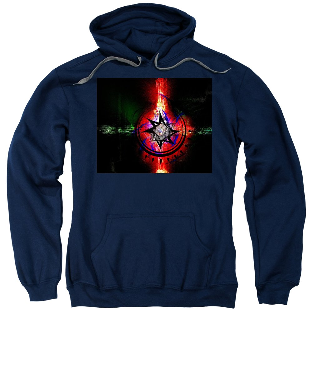 Intersection Sweatshirt featuring the digital art Intersection by Michael Damiani