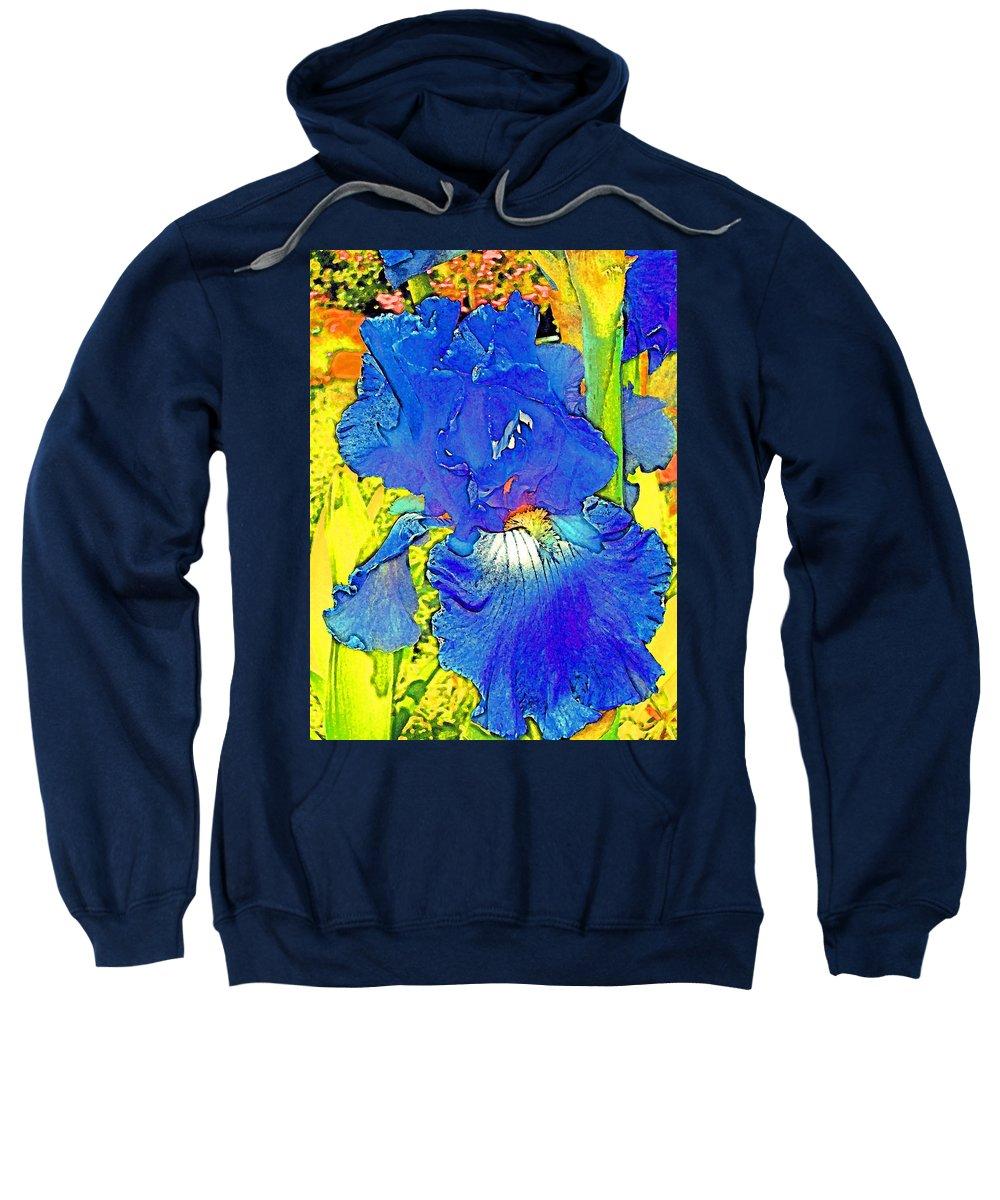 Flowers Sweatshirt featuring the photograph Iris 10 by Pamela Cooper
