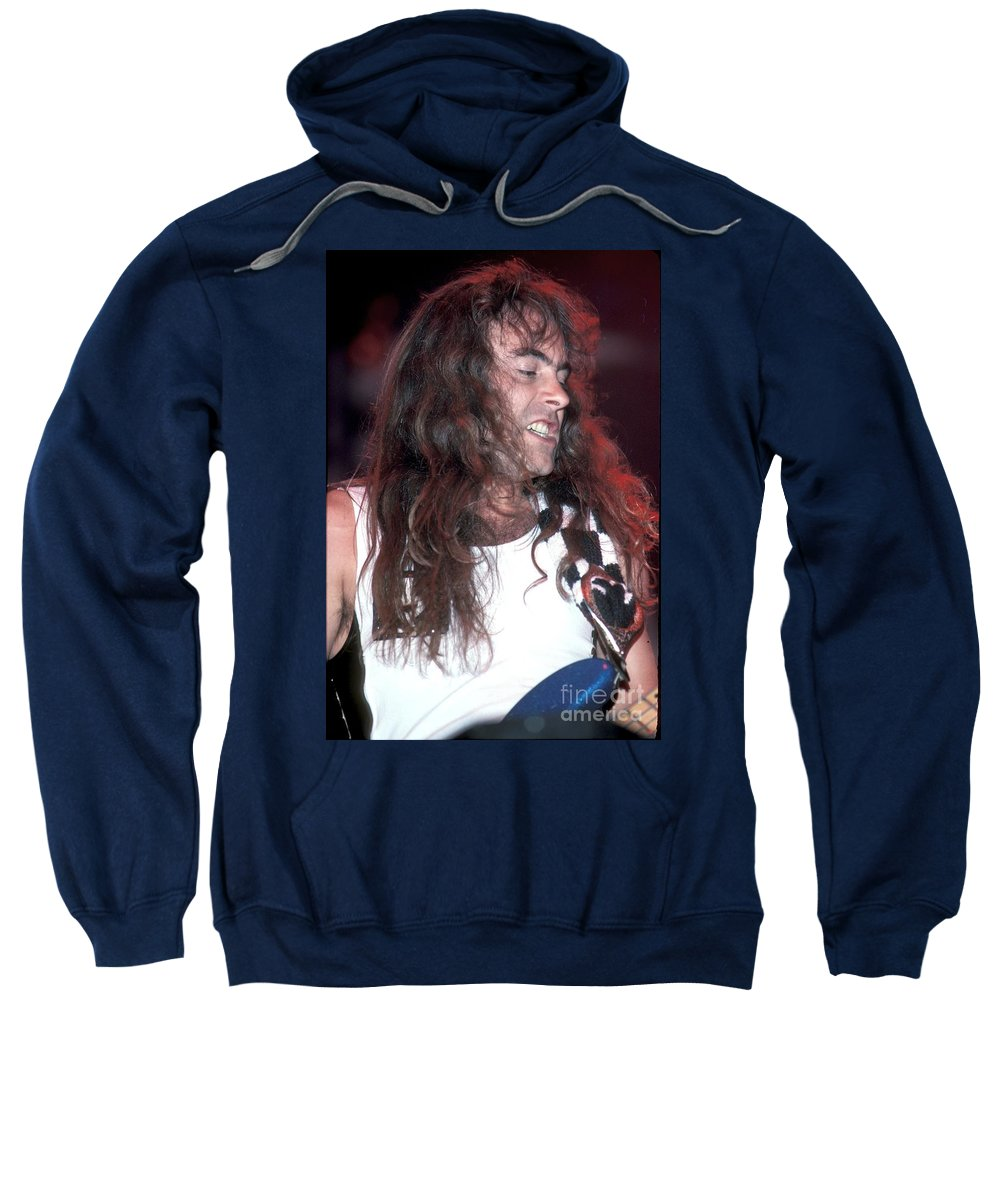 Vocals Sweatshirt featuring the photograph Iron Maiden by Concert Photos