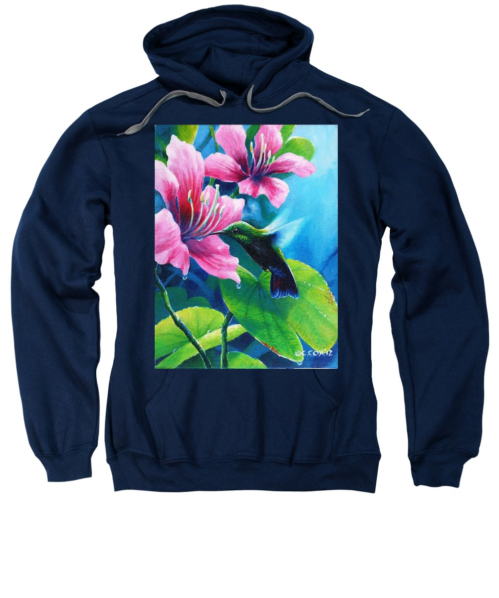 Chris Cox Sweatshirt featuring the painting Antillean Mango by Christopher Cox