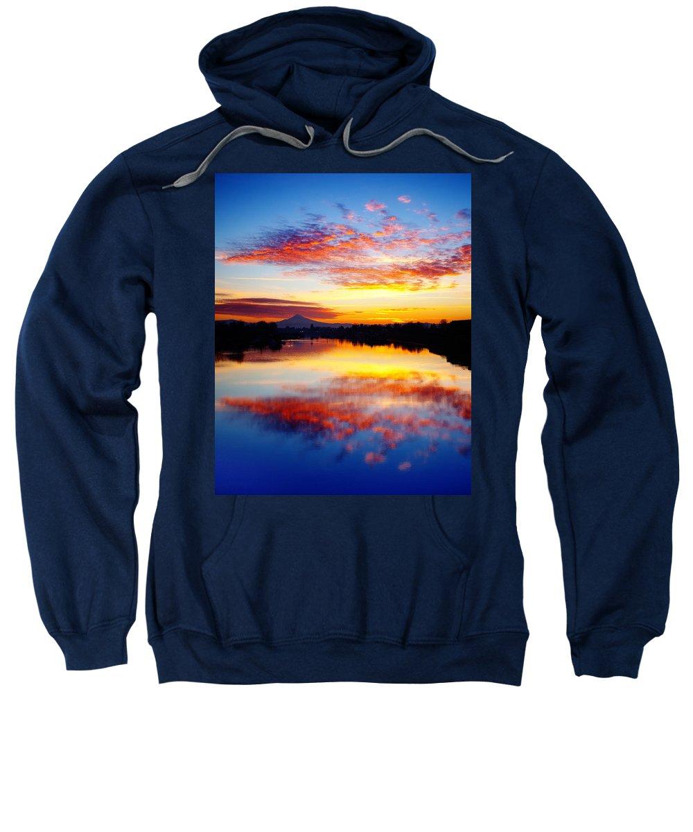 Sunrise Sweatshirt featuring the photograph Jantzen Beach Sunrise by Darren White