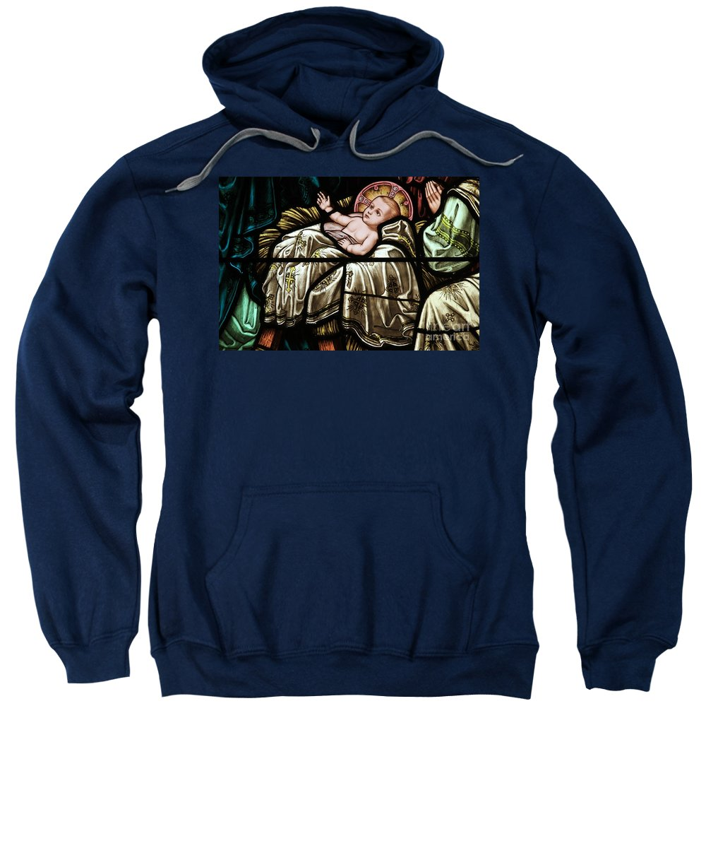 Baby Sweatshirt featuring the photograph Jesus Is Born by Adam Jewell